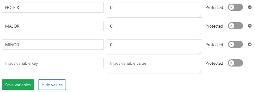 GitLab secret variables